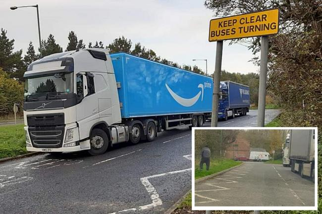 Anger as lorry drivers 'caught urinating' and human waste left in village near Amazon Durham Pictures: CONTRIBUTORS