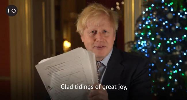 Prime Minister Boris Johnson issued a festive Brexit message