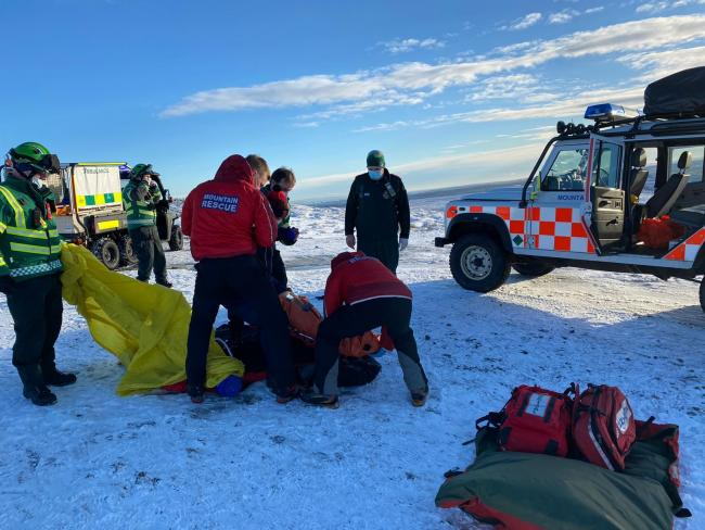 Mountain Rescue workers in action over the festive period