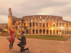 The Northern Echo: Carly and Jason got engaged in Rome in January 2019. Cary had no idea and Jason had taken the planning to the next level because he carefully watched the Colosseum's live camera every day to see what time sunrise was, so the moment could be caught on camera