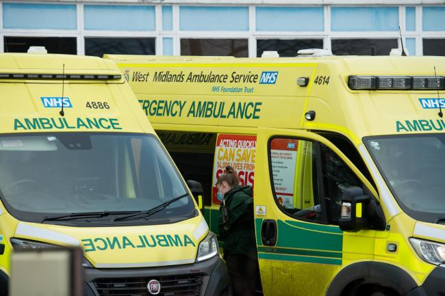 Ambulance crews at City Hospital in Birmingham. West Midlands Ambulance Service has experienced its busiest day on record as hospitals struggle to cope with an influx of coronavirus cases. On Monday, the service dealt with 5,383 calls in 24 hours. The pre