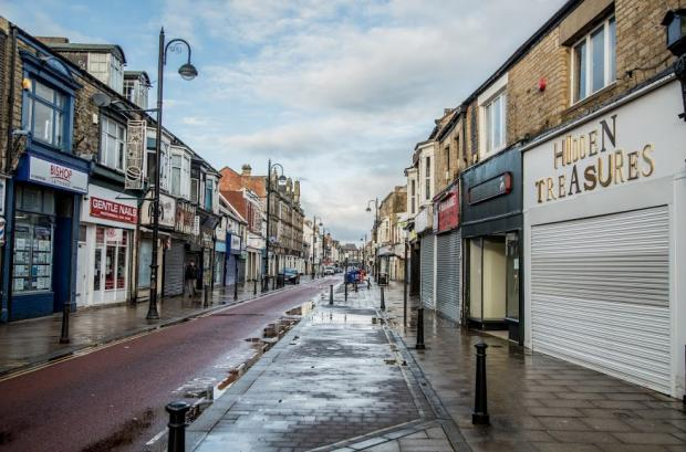 The Northern Echo: Newgate Street, which runs through Bishop Auckland town centre, seemed almost unrecognisable Picture: SARAH CALDECOTT