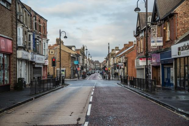 The Northern Echo: Newgate Street, in Bishop Auckland, seemed empty with most of the stores closed Picture: SARAH CALDECOTT