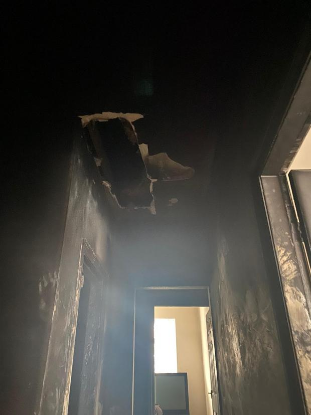 The Northern Echo: Damage caused to the house at Coronation, near Bishop Auckland, by a fire on Saturday, January 9, 2021