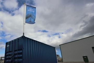 Container flagpole innovation launched in Newton Aycliffe