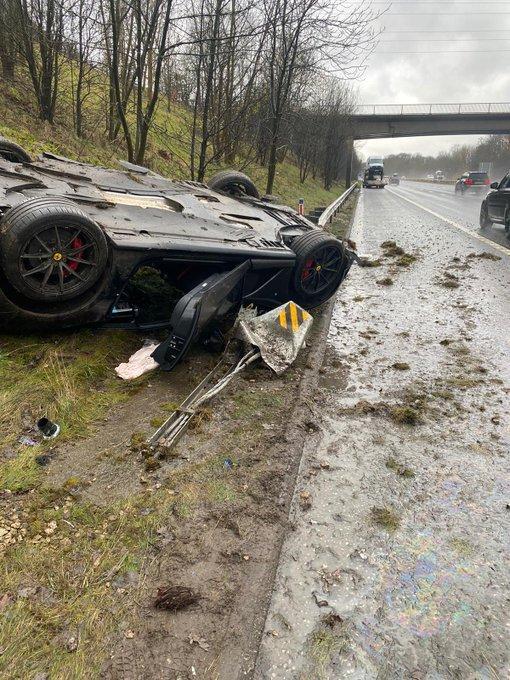 Storm Christoph blamed for £250,000 Ferrari crash in Yorkshire