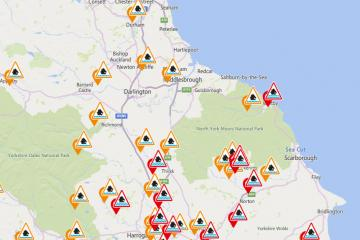Storm Christoph: Flood alerts in place across North-East and North Yorkshire