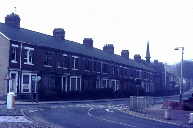 Victoria Road, Darlington, shortly before it was demolished in 1976. Picture: John Hill