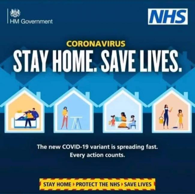 Sexist' Covid stay home poster withdrawn by Government after backlash | The Northern Echo