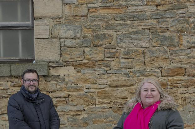 County councillor Heather Liddle, at the heart of the initiative to breathe new life into Sacriston, with Councillor Carl Marshall, Durham County Council's Cabinet member for economic regeneration
