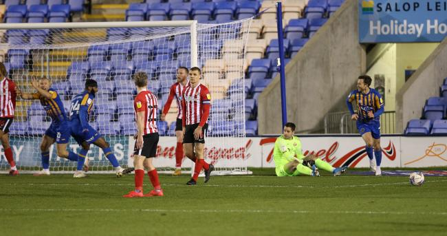 Remi Matthews's error contributed to Shrewsbury's opening goal on Tuesday night