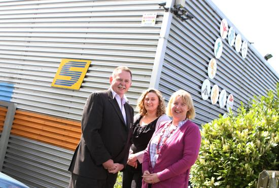 The Northern Echo: left Ian Hirst Chief Executive of Spectrum Leisure Centre in Willington, Becky Brunskill volunteer Project Development and Alison Hirst Trustee Picture: SARAH CALDECOTT