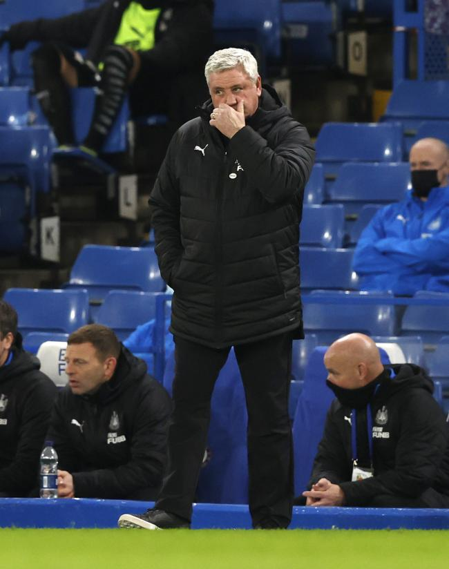 Steve Bruce watched Newcastle lose at Chelsea