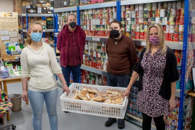 Staff and volunteers prepare food parcels at the Darlington foodbank (left to right): Monda Bardhaj, Richard Ashaw, Andrew Coltman, Caroline Todd. Picture: Chris Barron