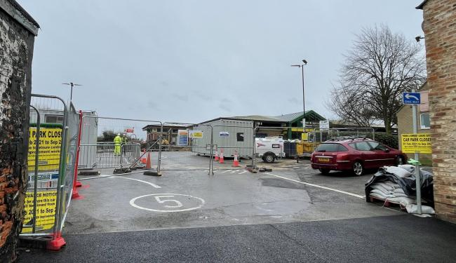 Work ongoing on a £4million transformation of Thirsk Leisure Centre 										Picture: SARAH CALDECOTT