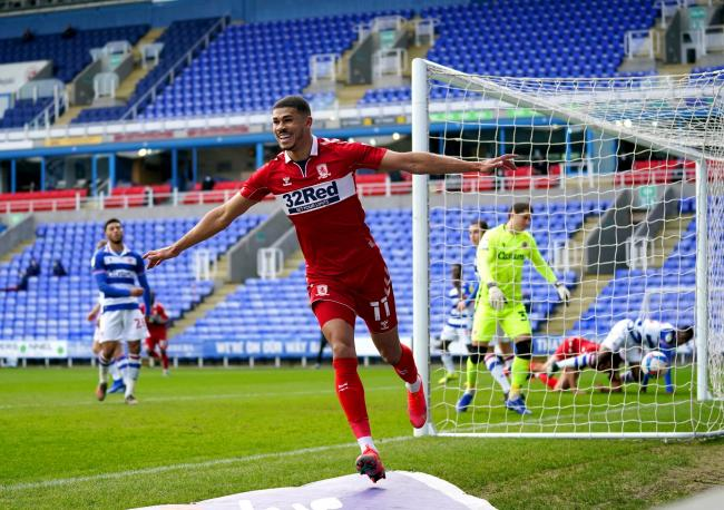 Ashley Fletcher celebrates after opening the scoring against Reading