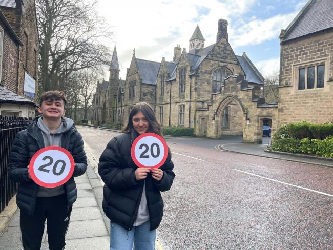 new 20mph zone is being put into place on Quarryheads Lane and Margery Lane, two roads surrounding Durham School, the latest and last in number of schools across Durham City to be designated 'Slow to 20' areas