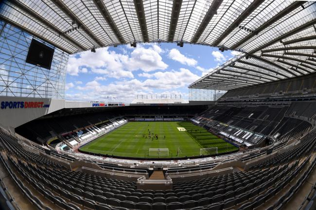 The empty stadium at St James' Park, Newcastle