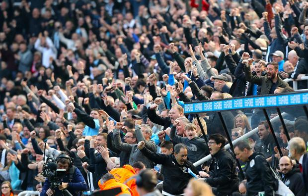 The Northern Echo: Newcastle United fans at St James' Park, Newcastle