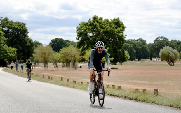 The Northern Echo: Cyclists travelling through Richmond Park