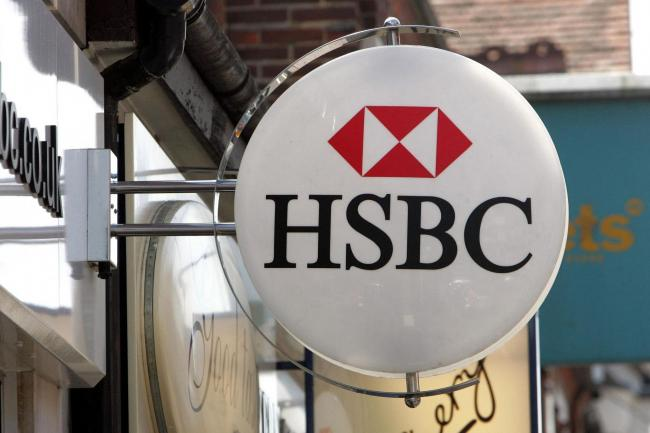 HSBC sign outside branch