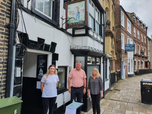Staff at the Dun Cow Inn in Durham, who haven't been allowed to place tables outside on the pavement