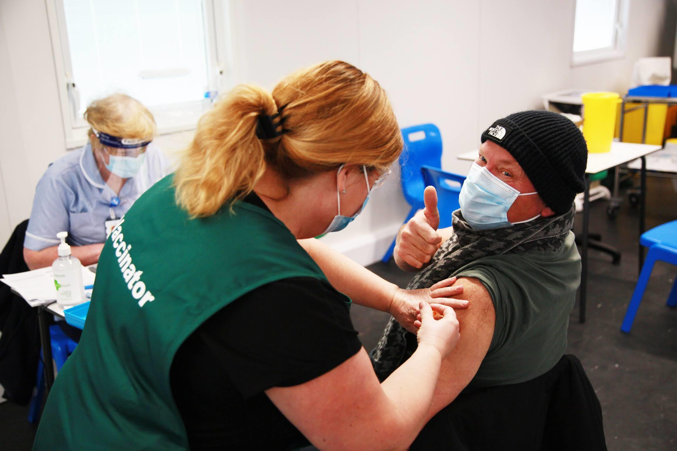 Darlington Arena Vaccination Centre Picture: SARAH CALDECOTT