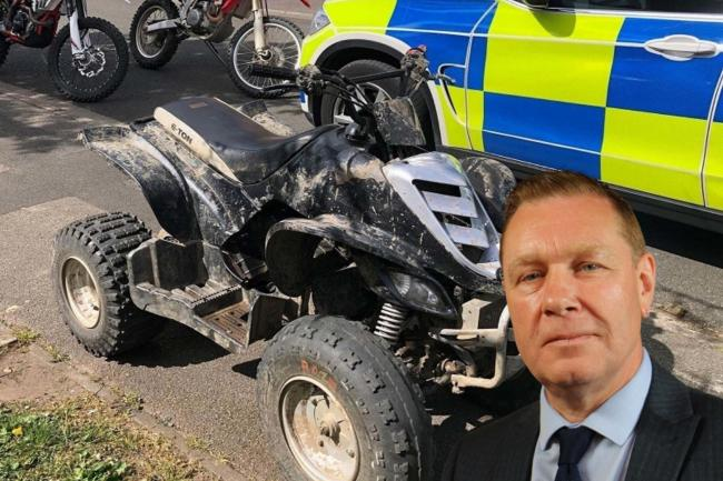 Durham County Councillor Rob Crute has called for a crackdown on nuisance riders