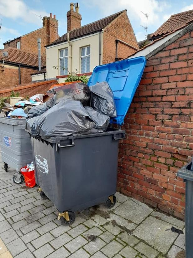 The Northern Echo: Overflowing bins have become a reoccurring problem in the town