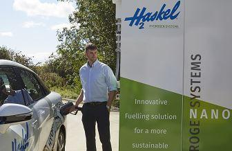 Hydrogen refueling station in operation at the Haskel Sunderland facility