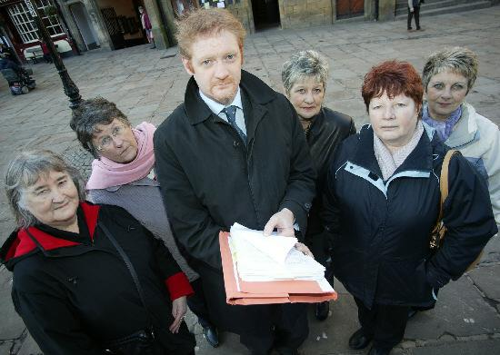 The Northern Echo: From left, Edna Fearon, Maureen Hopper, John Rumney, Christine Kirkup, Ann Nyland and Sylvia Holmes