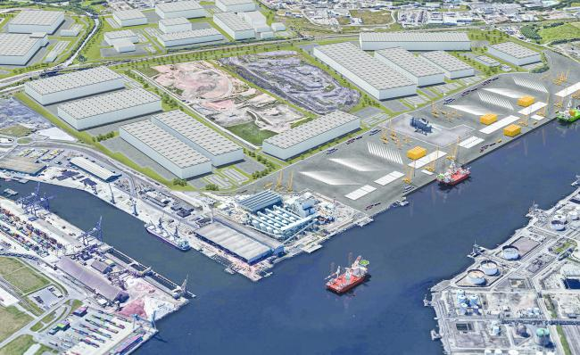 An artist's impression of what the new port would look like