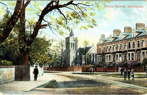 The Northern Echo: An Edwardian postcard of Holy Trinity Church, Darlington, where Boris Johnson's ancestors were buried in 1855