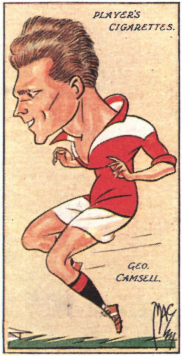 The Northern Echo: A cigarette card showing the great George Camsell in the red of the Boro