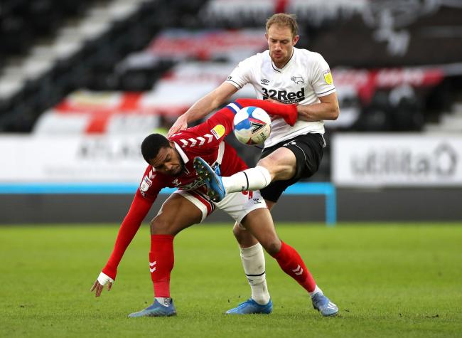 Britt Assombalonga in action against Derby