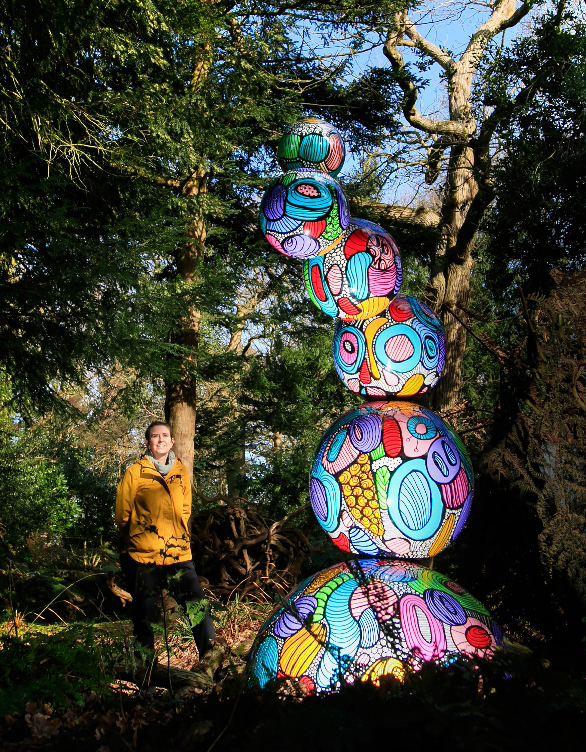 Kat Trinder looks at an art installation entitled Colour Forms - straws upon the water by collaborators Lenny and Whale, which has been unveiled in Wentworth Castle Gardens in Barnsley, South Yorkshire Picture: DANNY LAWSON/PA