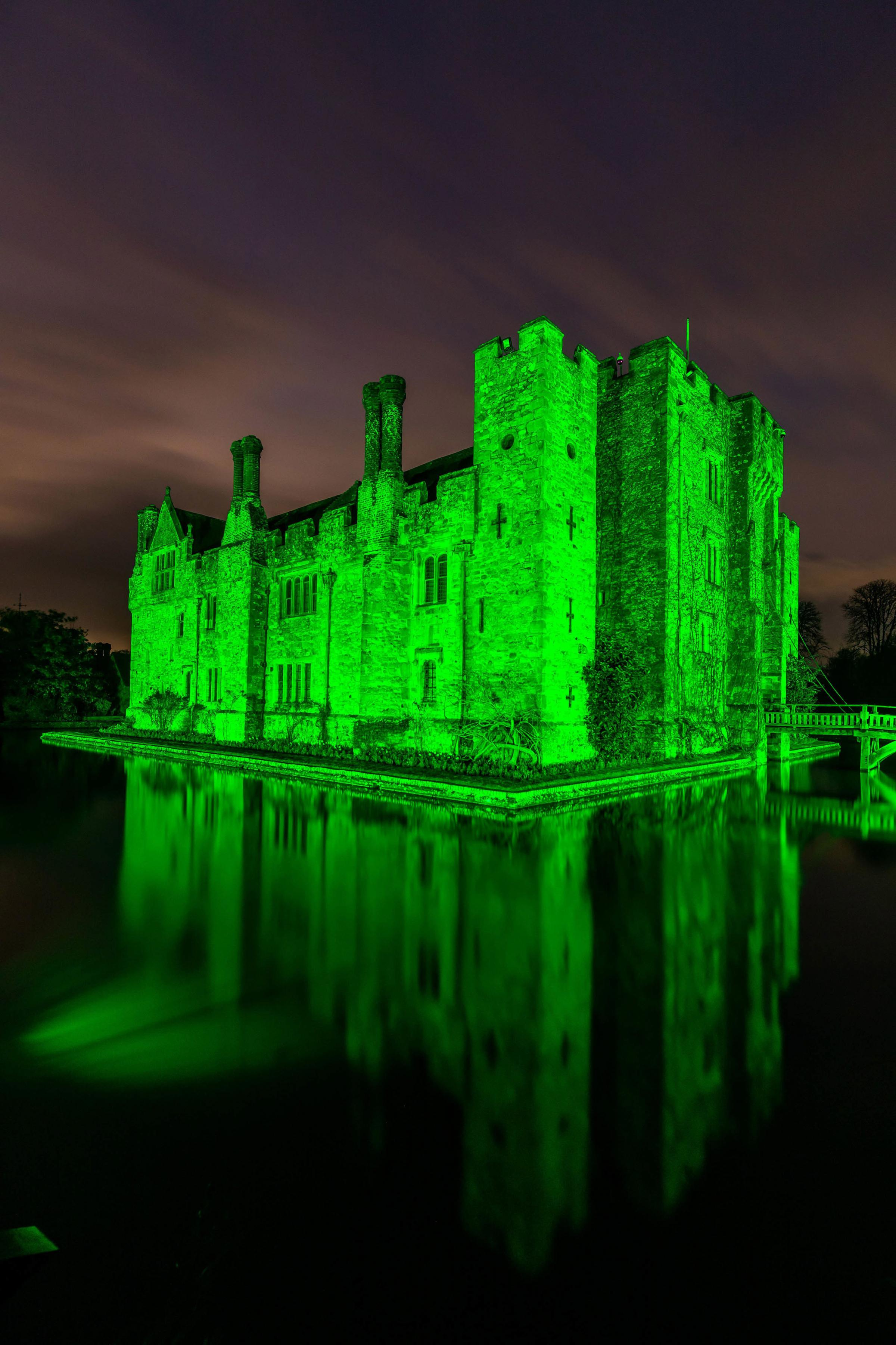 Hever Castle in Kent joins Tourism Irelands Global Greenings campaign to mark St Patrick's Day Picture: CIARAN MCCRICKARD/PA