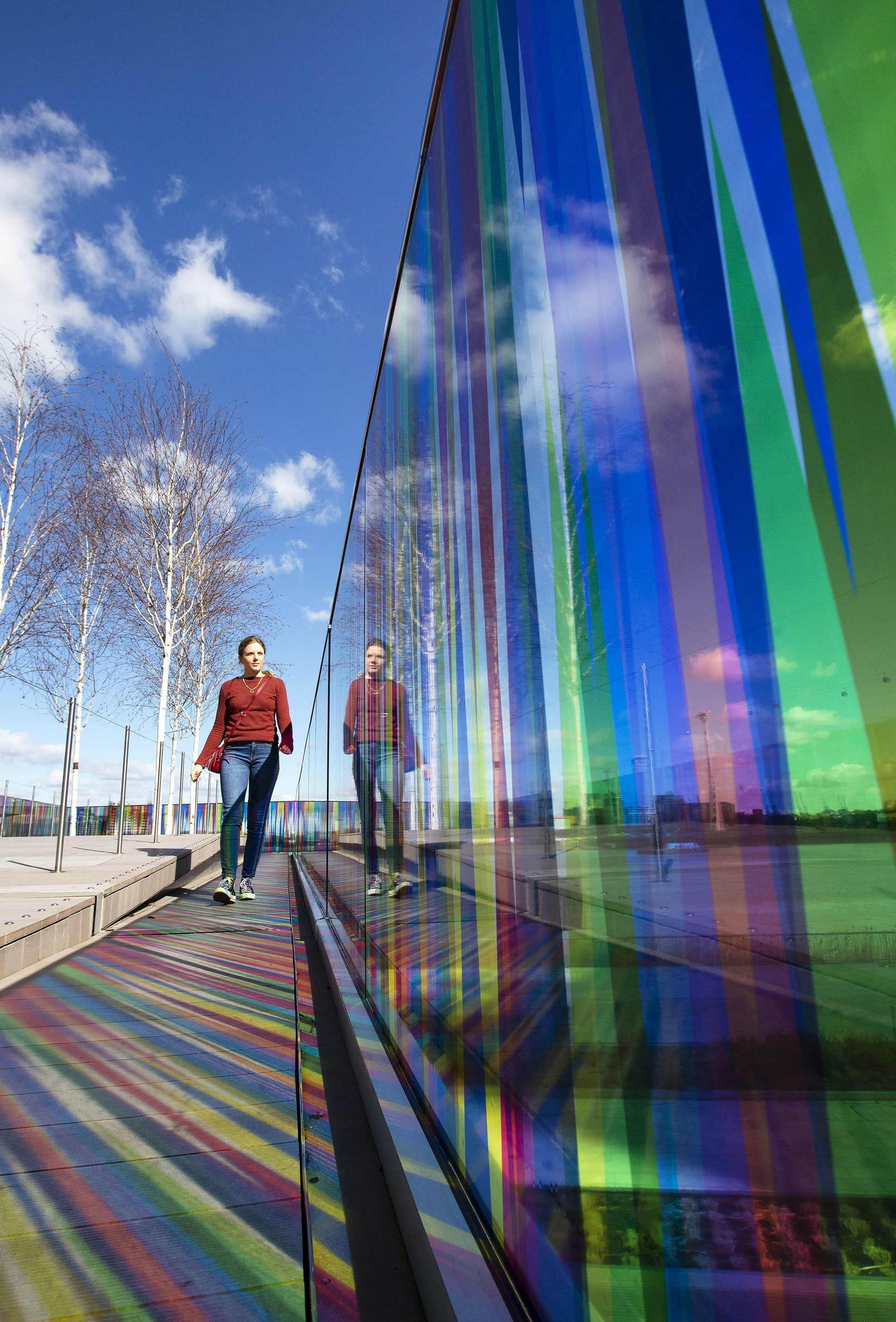 Hundreds and Thousands, a new large-scale installation by artist Liz West commissioned by Greenwich Peninsula, is unveiled on The Tide in North Greenwich, London Picture: MATT ALEXANDER/PA