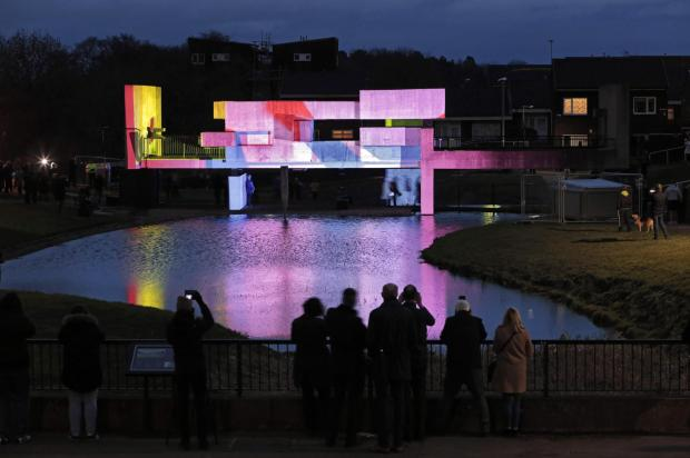 The Northern Echo: Apollo Pavilion in lights