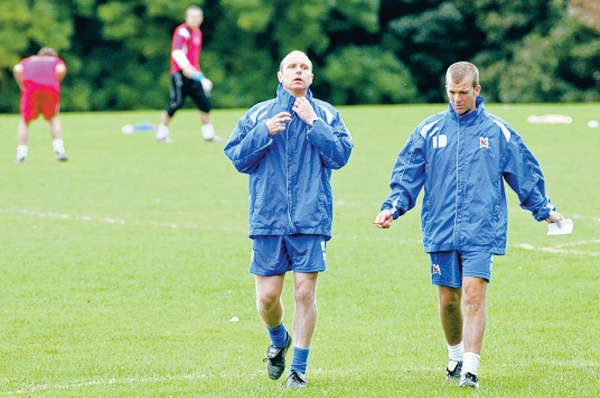 HEAVY WORKLOAD: Caretaker bosses Craig Liddle, left, and Neil Maddison