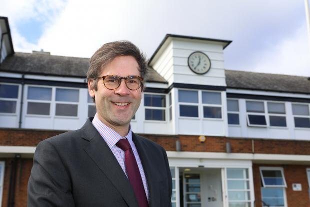 The Northern Echo: Principal Will Scott outside of the Senior School at Dame Allan's