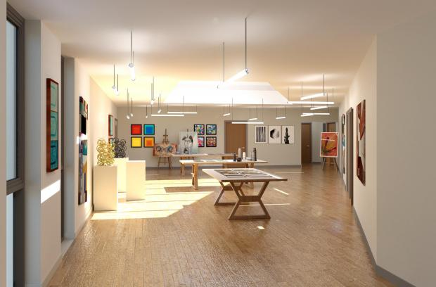 The Northern Echo: An artist impression of art exhibition space one