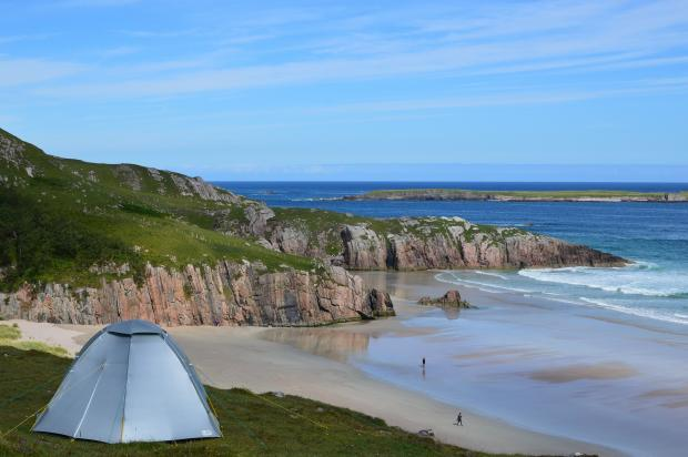 The Northern Echo: Wild camping on the Scottish coast. Picture: Pixabay