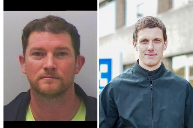 Rapist Paul Wardle, left, jailed for 67 months and Det Con James Hutchinson, who led inquiry