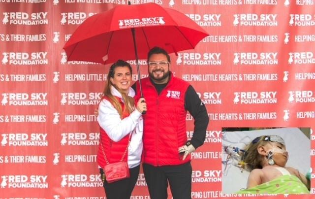 Sergio Petrucci and his wife Emma set up the Red Sky Foundation in 2016, a year after their daughter Luna underwent open-heart surgery