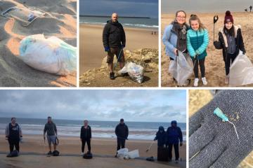 Meet the man inspiring others to litter pick North-East beaches