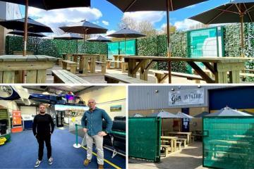 Aviator Gin Bar in Newton Aycliffe opens impressive beer garden