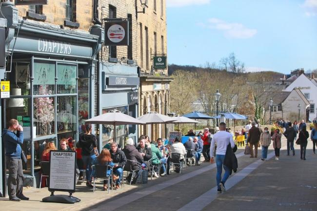 Shoppers and diners return to Durham. Picture: SARAH CALDECOTT