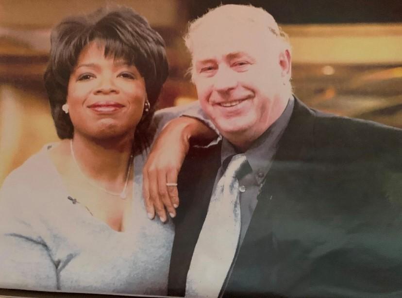 George Reynolds with Oprah Winfrey