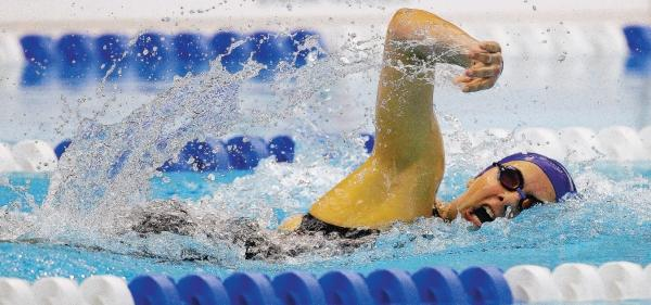 The Northern Echo: AIMING HIGH: Aimee Willmott on the way to a silver medal in the 400m medley